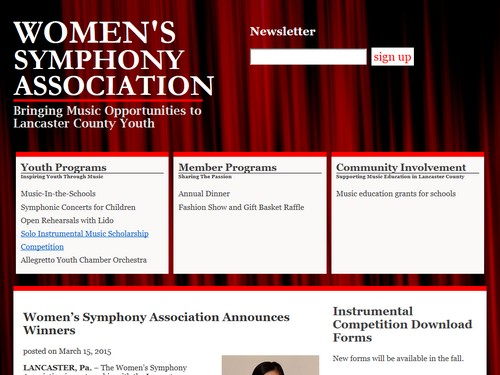 The Women's Symphony Association of Lancaster Pa