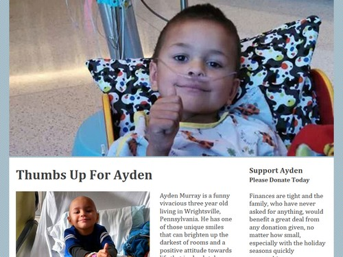 Thumbs Up For Ayden