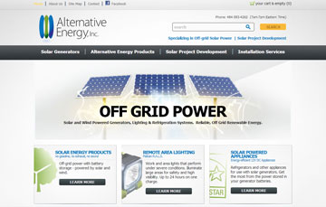 Alternative Energy Solar Generators Appliance Consulting Website Alternative Energy | Solar Generators | Live off the grid!