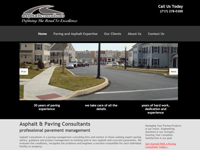 New Website for Asphalt Consultants
