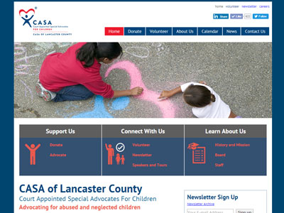 CASA of Lancaster PA Website New Website for CASA of Lancaster
