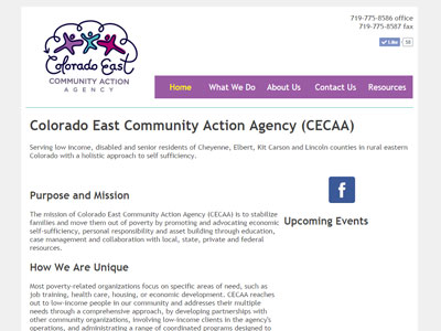 Colorado East Community Action Agency Website Colorado East Community Action Agency
