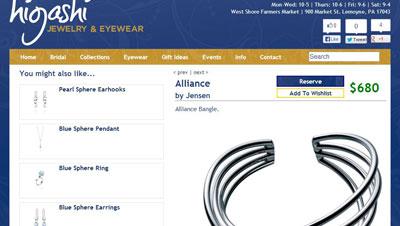 Higashi Jewelry Website Upgrades eCommerce Higashi eCommerce Upgrades -Harrisburg Jewelry lovers rejoice!