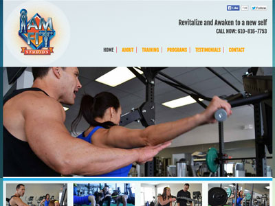 I Am Fit Website for Personal Trainer Website for I Am Fit
