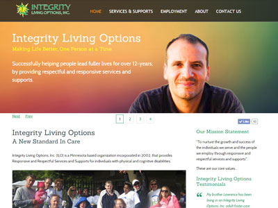 Integrity Independent Living Options Website Integrity Living Options