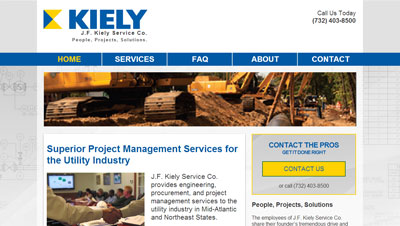 JFKieley Website for Pipeline Engineers J.F. Kiely Service Co. Launches a New Website