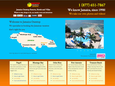 Website for Jamaica Onestop