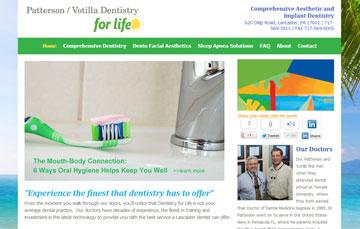 Lancaster Dentist Patterson Votilla Dentistry for Life Website1 Dentistry for Life -A Lancaster Dentist