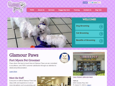 My Glamour Paws Website New Website for My Glamour Paws