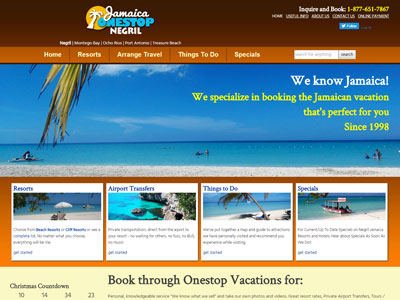 Negril Jamaica Onestop Vacation Website New Website for Negril Jamaica