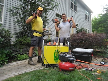 SNRNR deck project.JPG SUNRNR Portable Solar Generator Shines at Construction Site