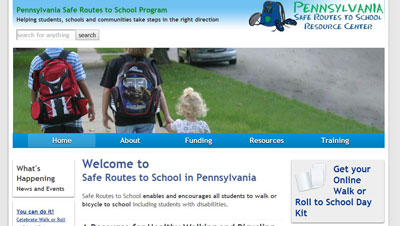 Safe Routes PA Walk Bike to School PA Safe Routes to School launches a new website