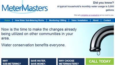 Water Sub Metering Website Metermasters Launches a Website! -Learn the benefits of sub-metering