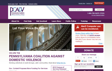Website Design Pennsylvania Coalition Against Domestic Violence Pennsylvania Coalition Against Domestic Violence