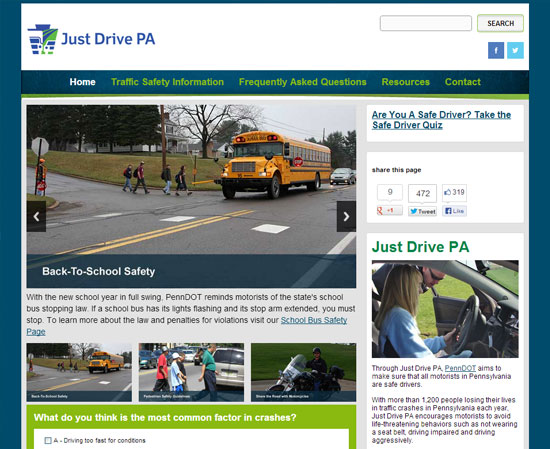 Website and SEO for Just Drive PA Web Design Refresh for Just Drive Pa