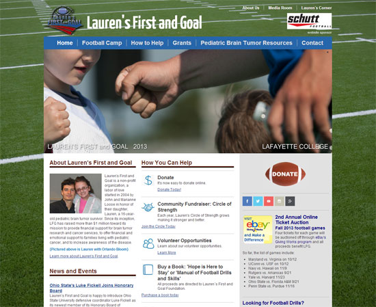 Website and SEO for Laurens First and Goal Design Refresh for Lauren's First and Goal