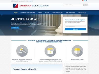 Website for American Bail Coalition Announcing a new website for American Bail Coalition