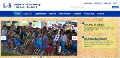 New website for Lampeter-Strasburg School District